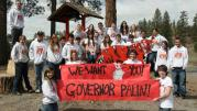 Republic High School Seniors Hold Palin Sign