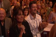 Sarah and Todd watching Bristol from sidelines at DWTS All Stars