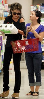 Sarah and Willow shopping at KMart in Studio City CA
