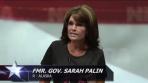 Sarah looking serious during 2013 NRA Speech