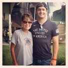 Sarah poses with TylerClary at Las Vegas Speedway