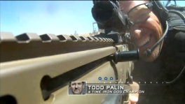 Todd aiming gun during finale practice