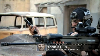 Todd aiming pistol during SES finale
