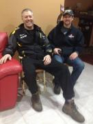 Todd and Scott in Palin living room soon before Iron Dog Race 2013