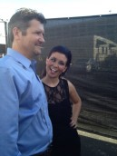 Todd with Bristol clowning at DWTS area