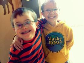 Trig and Tripp wearing glasses