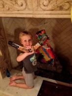 Tripp holding boomerang