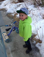 Tripp with tricycle