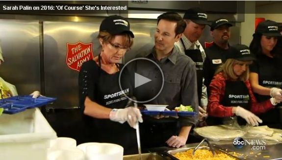 Governor Palin serves chili to homeless